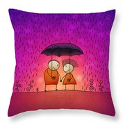 Under The Rain Throw Pillow by Gianfranco Weiss