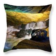 Underground Waterfall 2 Throw Pillow by Mark Papke