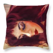 Underwater Geisha Abstract 3 Throw Pillow by Scott Campbell