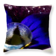 Underwater Universe Unfolding Throw Pillow by Lisa Knechtel