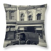 Underwood Typewriter Factory Throw Pillow by Edward Fielding