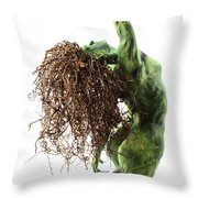 Unfurled Back View Detail Throw Pillow by Adam Long