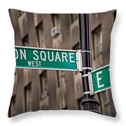 Union Square West I Throw Pillow by Susan Candelario