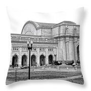 Union Station Washington Dc Throw Pillow by Olivier Le Queinec