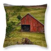 Unique Barn In The Palouse Throw Pillow by Priscilla Burgers