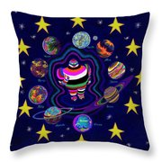 United Planets Of Eurotrazz Throw Pillow by Robert SORENSEN