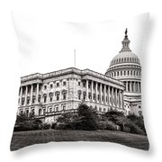 United States Capitol Senate Wing Throw Pillow by Olivier Le Queinec