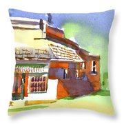 United States Post Office Throw Pillow by Kip DeVore