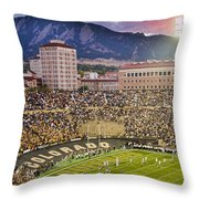 University Of Colorado Boulder Go Buffs Throw Pillow by James BO  Insogna