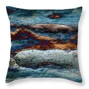 Untamed Sea 2 Throw Pillow by Carol Cavalaris