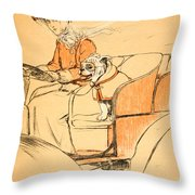 Up Front Throw Pillow by Cecil Charles Windsor Aldin