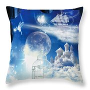 Up In The Air Throw Pillow by Mo T