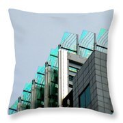 Uptown Rooftop Throw Pillow by Randall Weidner