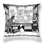 Urban Camper Store Throw Pillow by Jack Pumphrey
