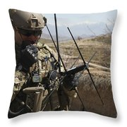 U.s. Air Force Joint Terminal Attack Throw Pillow by Stocktrek Images
