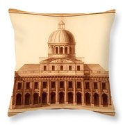 U.s. Capitol Design 1791 Throw Pillow by Mountain Dreams