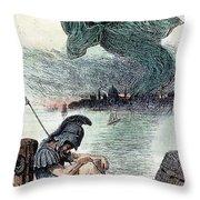 U.s. Cartoon: Cholera, 1883 Throw Pillow by Granger