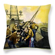 US Marines Throw Pillow by Leon Alaric Shafer