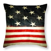 USA stars and stripes Throw Pillow by Les Cunliffe