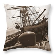 USS Constitution Throw Pillow by Catherine Reusch  Daley