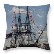 Uss Constitution Throw Pillow by Mike Ste Marie