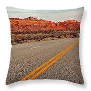 Utah Highway Throw Pillow by Benjamin Yeager