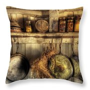 Utensils - Old Country Kitchen Throw Pillow by Mike Savad