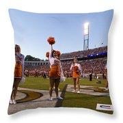 Uva Cheerleaders Throw Pillow by Jason O Watson