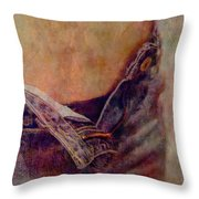 V Jeans Throw Pillow by Loriental Photography