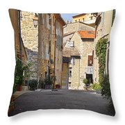 Valbonne - French Village Of Contradictions Throw Pillow by Christine Till
