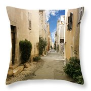 Valbonne - History And Charm Throw Pillow by Christine Till