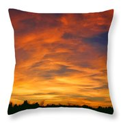 Valentine Sunset Throw Pillow by Tammy Espino