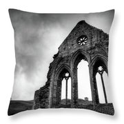 Valle Crucis Abbey Throw Pillow by Dave Bowman