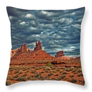 Valley Of The Gods Throw Pillow by Robert Bales