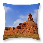 Valley Of The Gods Utah Throw Pillow by Christine Till