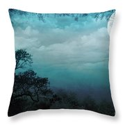 Valley Under Moonlight Throw Pillow by Bedros Awak