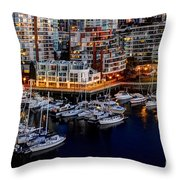 Vancouver British Columbia 10 Throw Pillow by Bob Christopher