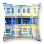 Vancouver Reflections Throw Pillow by Randall Weidner
