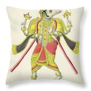 Varaha, Engraved By De Marlet Throw Pillow by French School