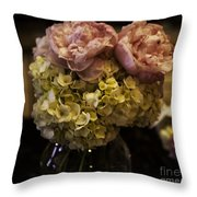 Vase Of Flowers Throw Pillow by Madeline Ellis