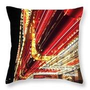 Vegas Neon Throw Pillow by John Rizzuto