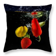 Vegetable Soup For The Soul Throw Pillow by Rene Triay Photography