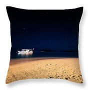 Velvet Night On The Island Throw Pillow by Jenny Rainbow