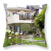 Venice Canal Home Throw Pillow by Chuck Staley
