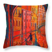Venice Impression VIII Throw Pillow by Xueling Zou