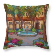 Ventura Mission Throw Pillow by Diane McClary