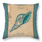 Verde Mare 2 Throw Pillow by Debbie DeWitt