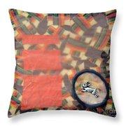 Vernal Equinox Hare Throw Pillow by Ellen Miffitt