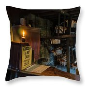 Victorian Candle Factory Throw Pillow by Adrian Evans