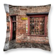 Victorian Corner Shop Throw Pillow by Adrian Evans